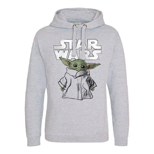 Star Wars The Mandalorian The Child Sketch Pullover Hoodie