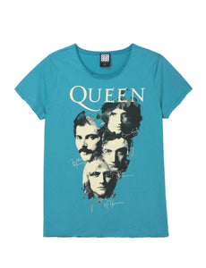 Amplified Queen Autograph Teal Partners T-Shirt - Merch Rox