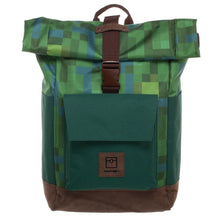 Load image into Gallery viewer, Minecraft Premium Explorer Rolltop Backpack