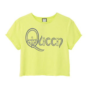 Amplified Queen Royal Logo Women's Crop Top - Merch Rox