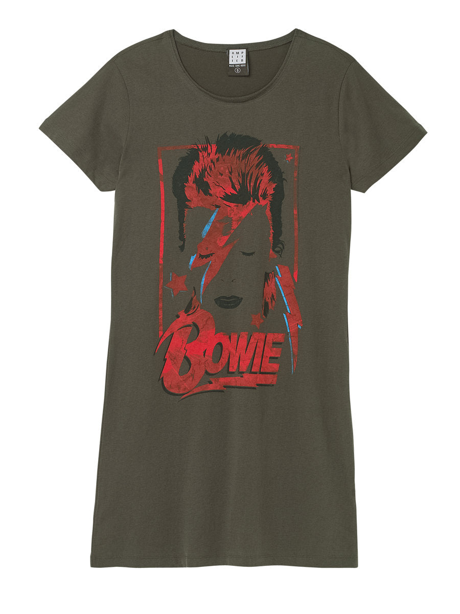 Amplified David Bowie Aladdin Sane T-shirt Dress - Merch Rocks