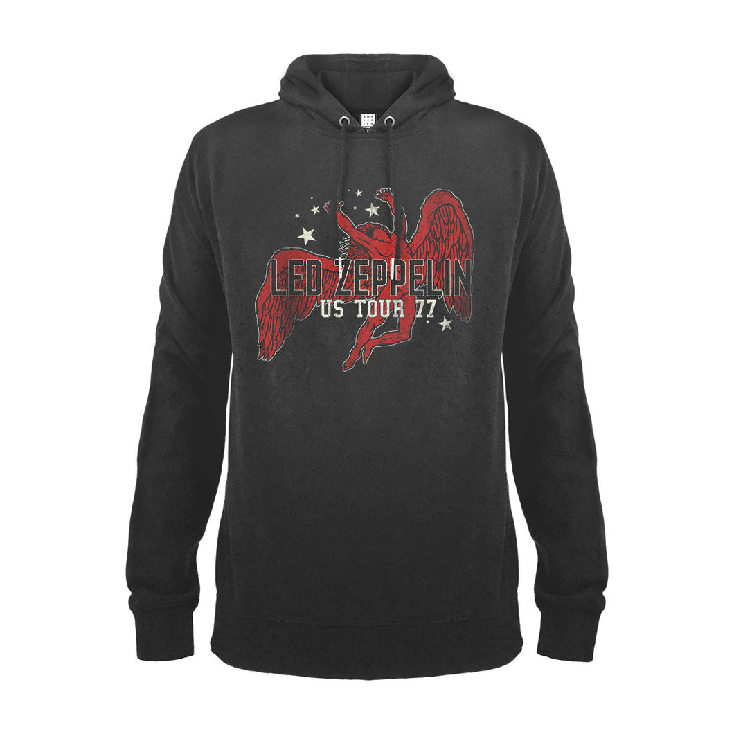 Led Zeppelin Icarus 77 Tour Hooded Sweatshirt from Amplified - Merch Rox