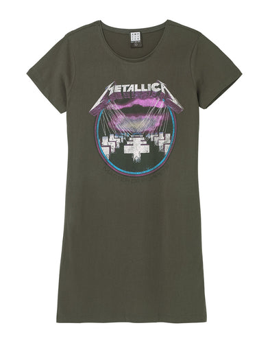 Amplified Metallica Purple Master Of Puppets T-Shirt Dress - Merch Rox
