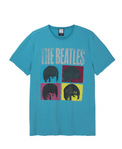 Amplified The Beatles Hard Days Night Teal T-Shirt