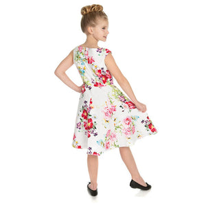 Hearts & Roses Girls 50's style Rose Paradise Swing Dress - Merch Rox