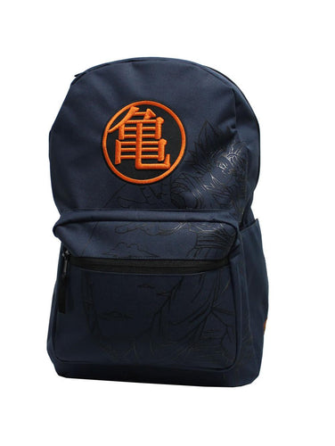 Dragon Ball Z Kanji Goku Logo Navy Backpack - Merch Rox