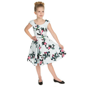 Hearts & Roses Girls 50's style Mademoiselle Swing Dress - Merch Rox