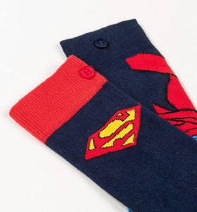 DC Comics Superman Logo Cape socks 2 Pack - Size 6-11 - Merch Rox