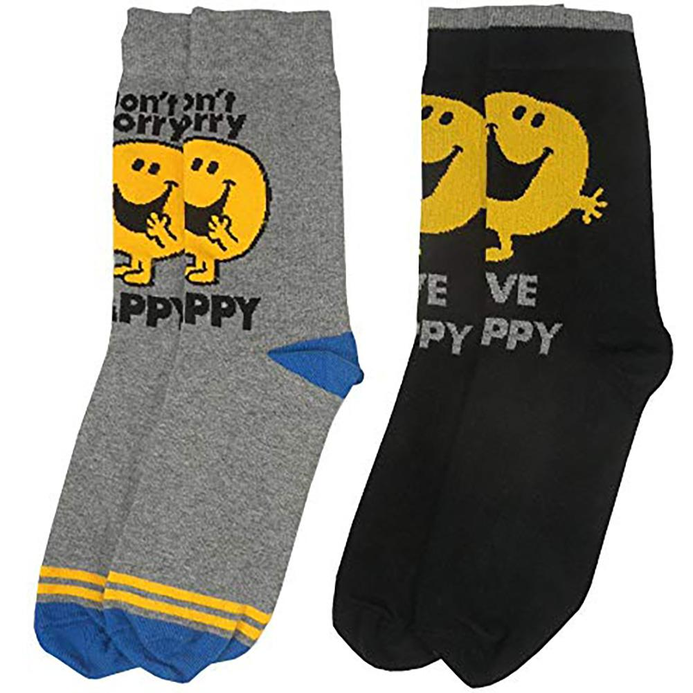 Mr Men Mr Happy Socks - Merch Rocks