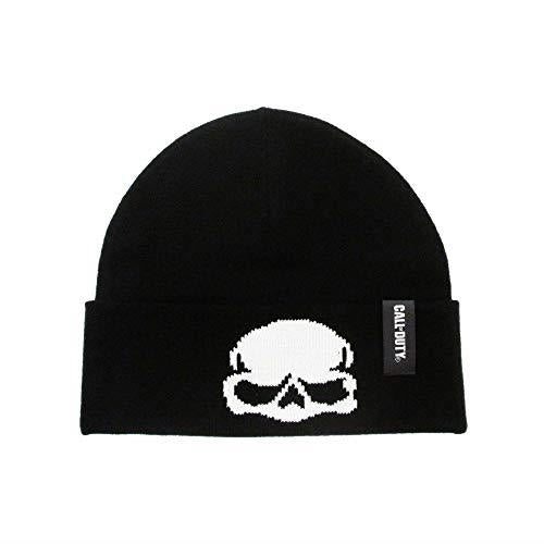 Call of Duty Black Skull Beanie Hat