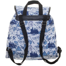 Load image into Gallery viewer, Harry Potter Icon Print Backpack - Merch Rocks