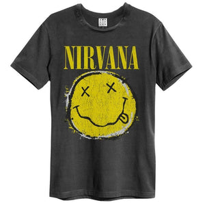 Amplified Nirvana Worn Out Smiley T-Shirt - Merch Rox