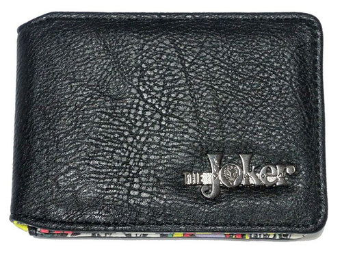 The Joker Logo Black Wallet - Merch Rox