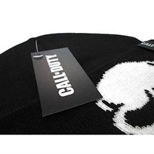 Load image into Gallery viewer, Call of Duty Black Skull Beanie Hat