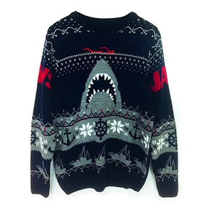 Jaws Shark Poster Christmas Jumper