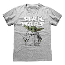 Load image into Gallery viewer, Star Wars The Mandalorian The Child Sketch Grey Marl T-Shirt
