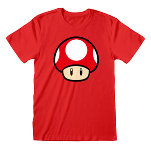 Nintendo Super Mario Power Up Mushroom  T-Shirt