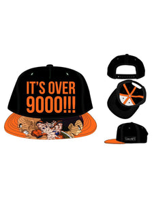 Dragon Ball Z It's Over 9000 Snapback Cap - Merch Rox