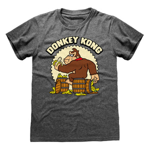 Nintendo Donkey Kong Heather Grey  T-shirt