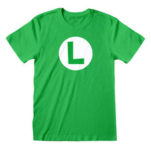 Load image into Gallery viewer, Nintendo Super Mario Luigi Badge T-shirt