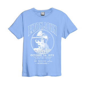Amplified Elton John Live In Concert Blue T-Shirt