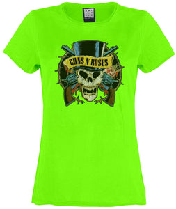Amplified Guns N Roses Death Skull Women's T-Shirt - Merch Rox