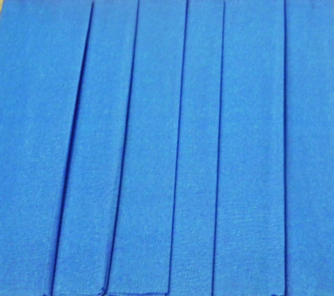 Mexican Crepe Paper 6 Blue Sheets