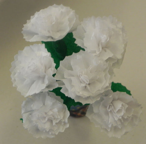 Free Shipping Mexican Crepe Paper Flowers Bouquet of 6 By Julia White