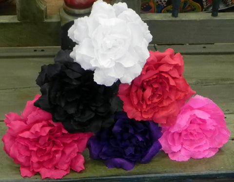 "Free shipping Crepe Paper Flowers Set of 6  Multicolor Dark  ""Roses ""  By Julia"
