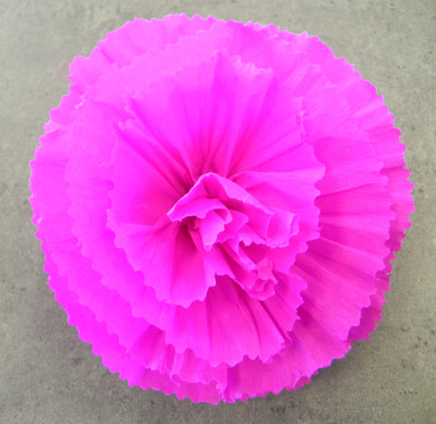 "Free Shipping Flower Hair Clip Hot Pink 5"" By Julia"