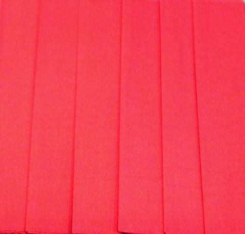 Mexican Crepe Paper 6 Red Sheets