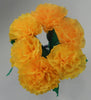 Free Shipping Mexican Crepe Paper Flowers Bouquet of 6 By Julia Yellow