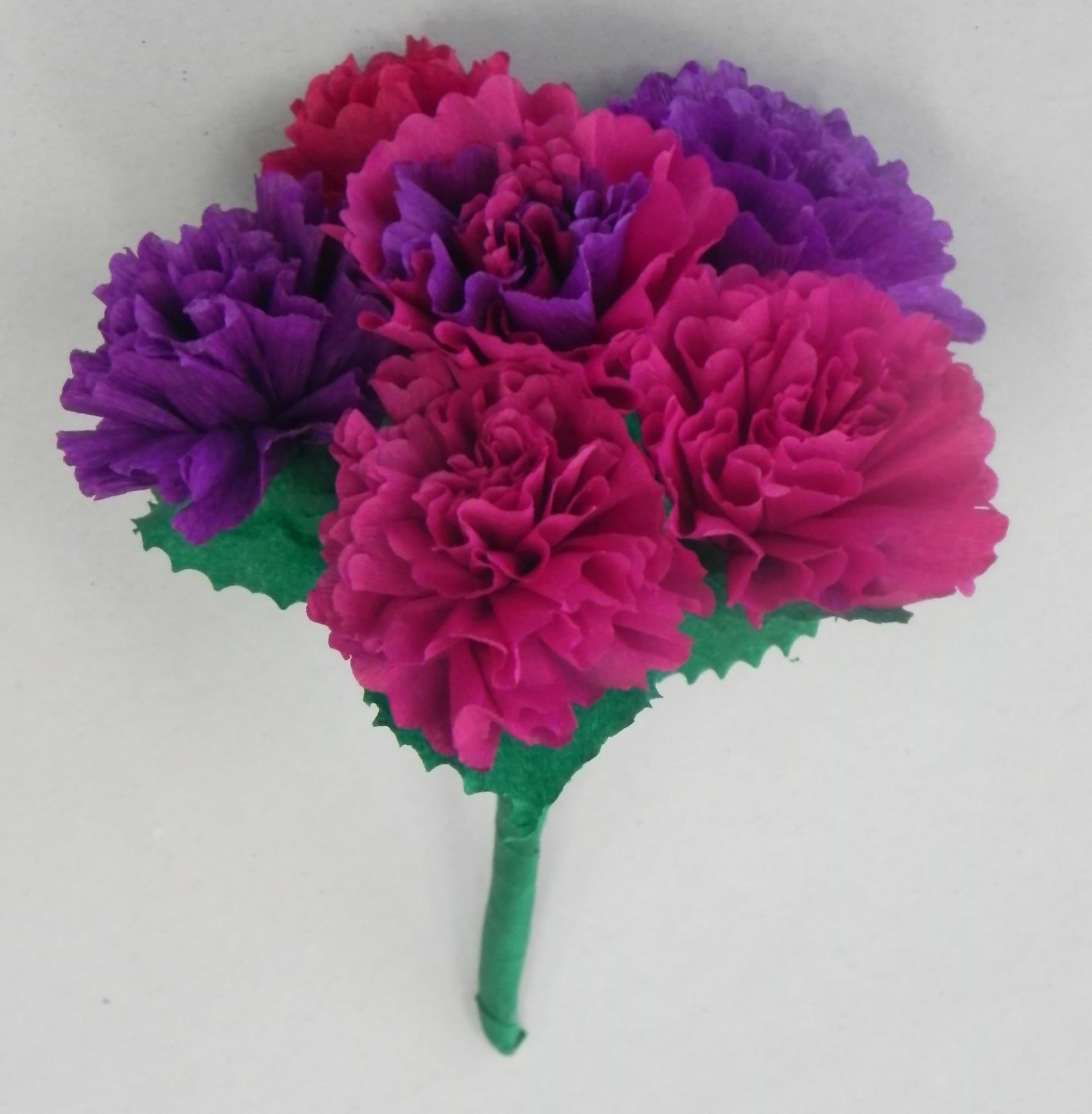 Free shipping mexican crepe paper flowers bouquet of 6 by julia free shipping mexican crepe paper flowers bouquet of 6 by julia purple paper flowers by julia mightylinksfo