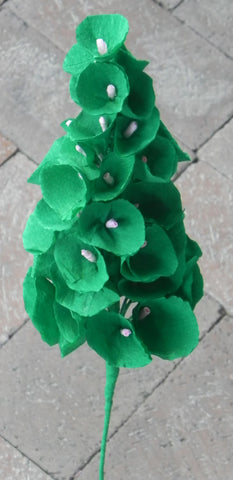 Large Green Crepe Paper Flower