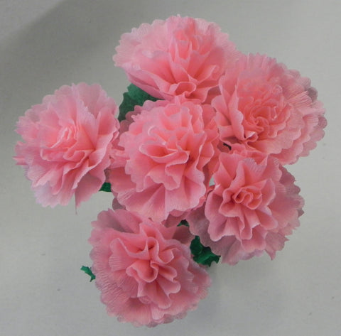 Free Shipping Mexican Crepe Paper Flowers Bouquet of 6 By Julia Light Pink