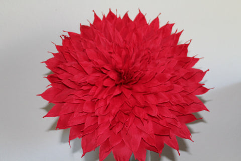 x large crepe paper flower red dalia 13