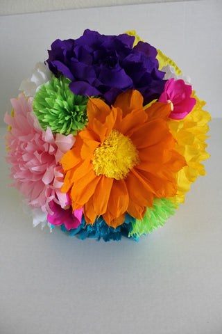 "Large Bouquet Mexican crepe paper flowers Multicolor ""We Make Special Orders"" By Julia"