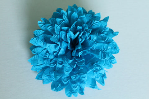 "Copy of Mexican Crepe Paper Flower Hair Clip 5"" Diam Cinco De Mayo Party Wedding"
