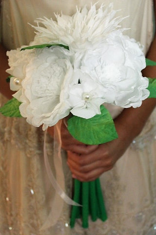 "Free shipping Large Bouquet Mexican crepe paper flowers Multicolor ""We Make Special Orders"" By Julia"