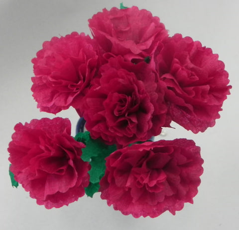 Free Shipping Mexican Crepe Paper Flowers Bouquet of 6 By Julia Burgundy