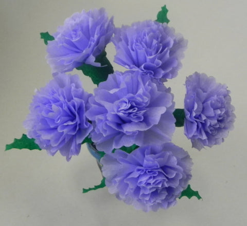 Free Shipping Mexican Crepe Paper Flowers Bouquet of 6 By Julia Lavender