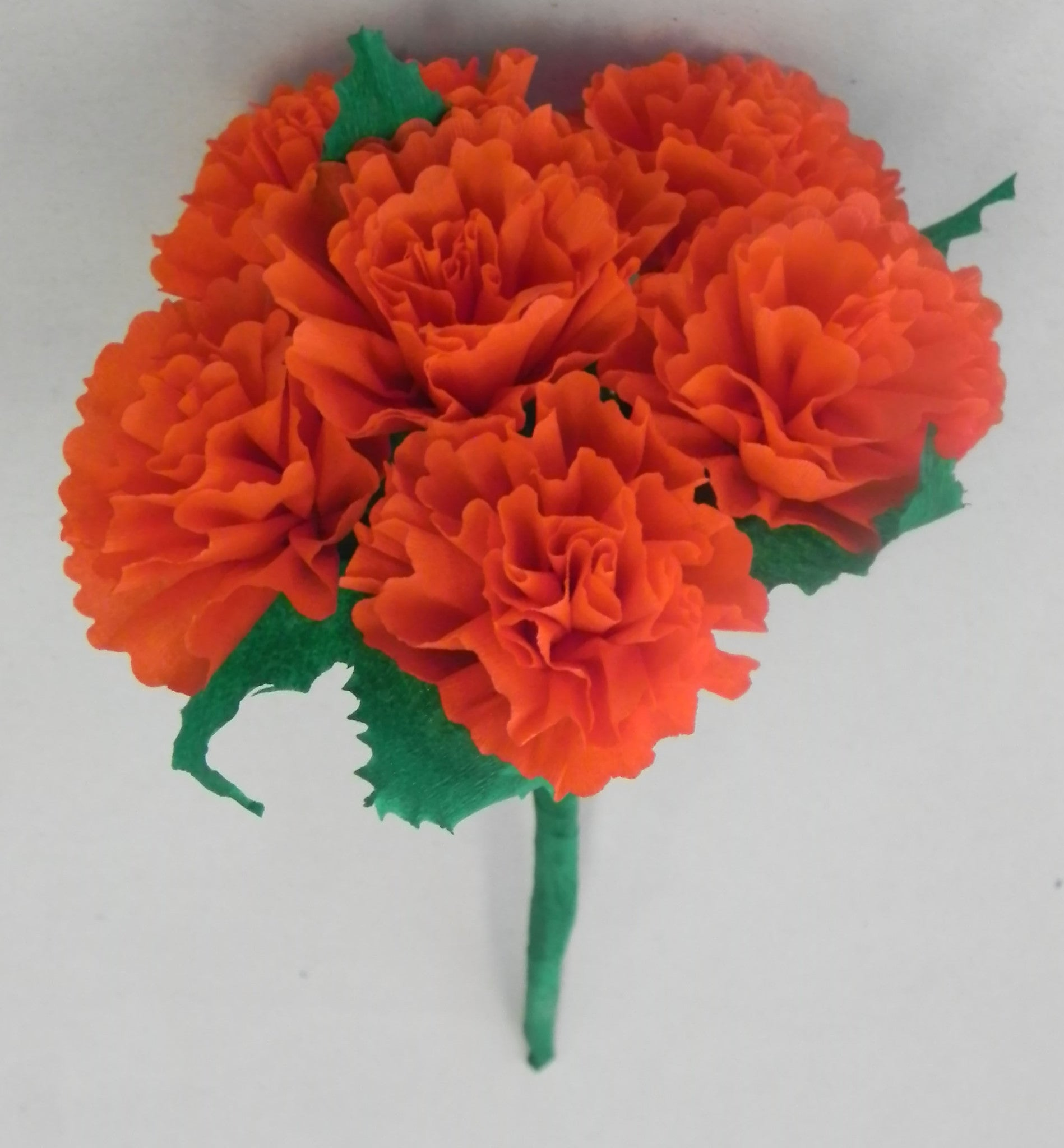 Free shipping mexican crepe paper flowers bouquet of 6 by julia free shipping mexican crepe paper flowers bouquet of 6 by julia orange paper flowers by julia mightylinksfo