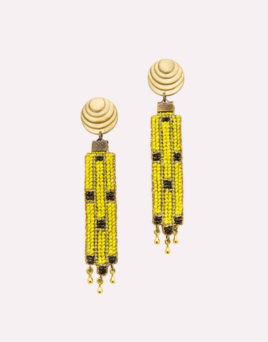 Grannys Trip Yellow Earrings