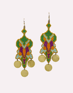 Grannys Trip Green Tropical Earrings