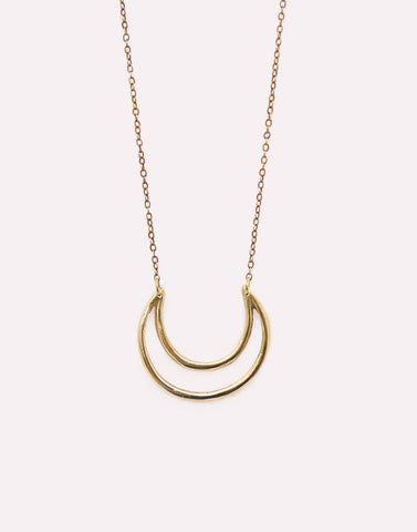 Cat Black Crescent Necklace