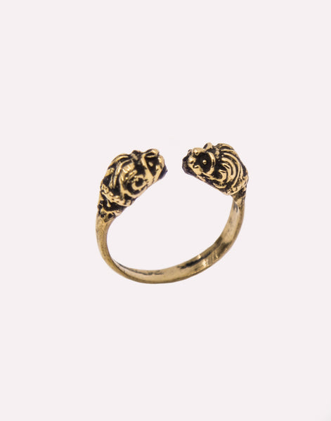 Cat Black Leo Ring