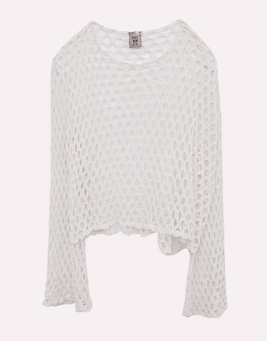 Berequette Knitted White Top