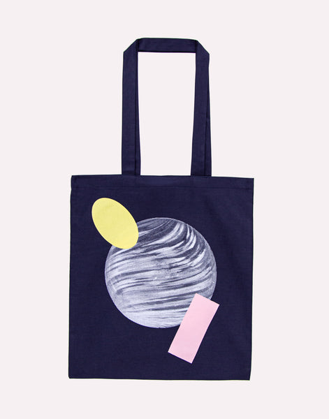 The Dreamer Pastel Planet Tote Bag