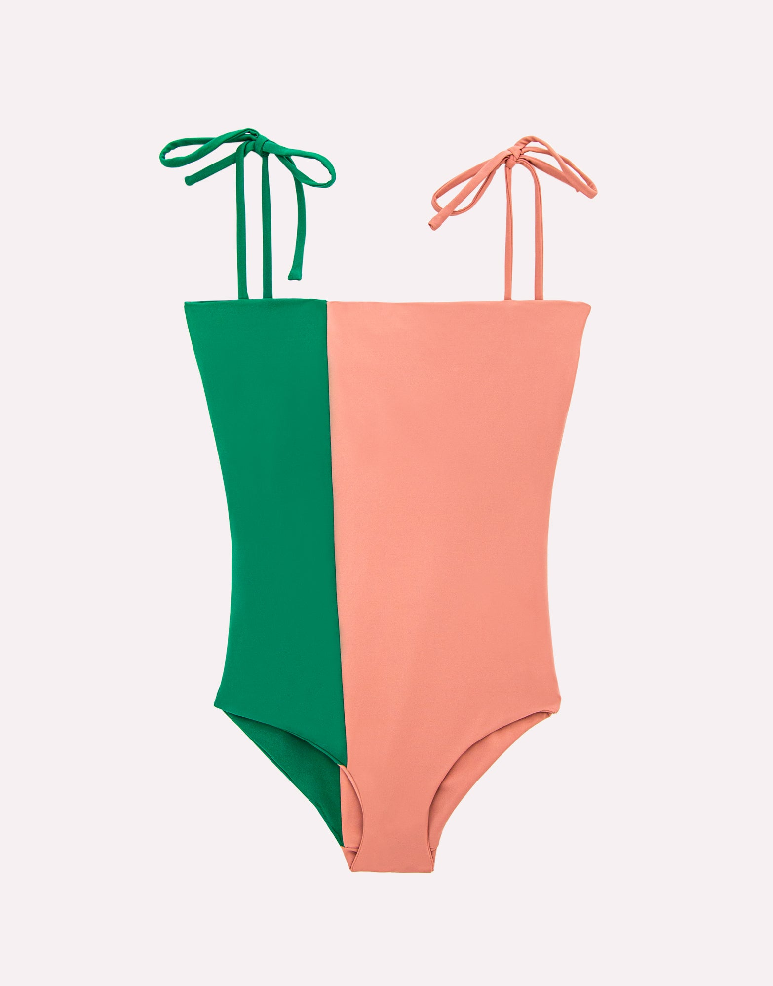 Akua Handmade Pink & Green Swimsuit