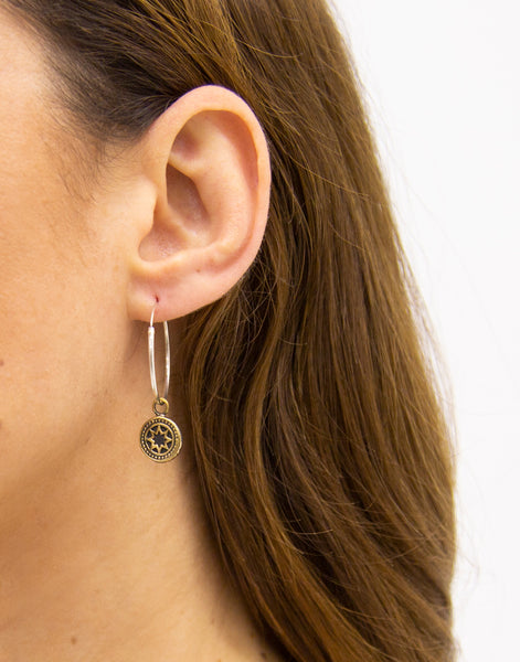 Cat Black Bellatrix Hoops